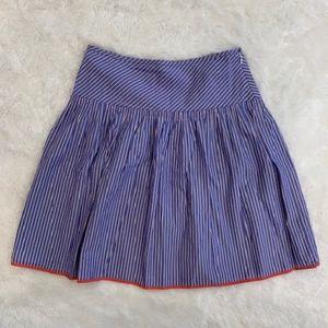 J. Crew Periwinkle striped midi skirt